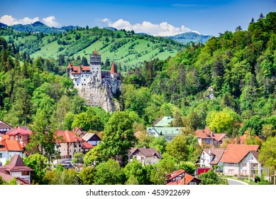 Bran Castle, Brasov, Romania. Medieval fortress at the border between Wallachia and Transylvania. It is also known for the myth of Dracula.