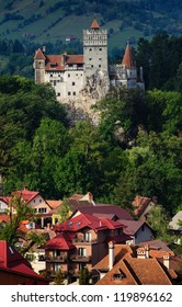 The Bran Castle and Bran city, Transylvania
