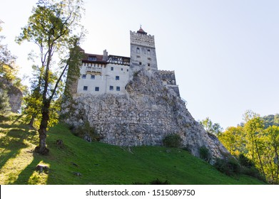 Bran Castle, Dracula Castle, Transylvania, Brasov, Romania, medieval Bran Castle, beautiful view with Dracula's Castle from outside