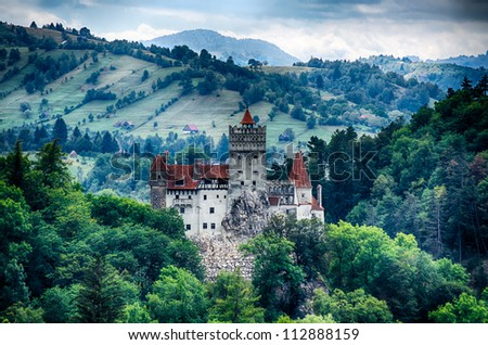 Bran Castle, guarded in the past the border between Wallachia and Transylvania. It is also known for the myth of Dracula. Romania.
