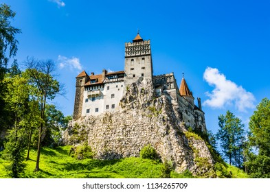 "Bran, Romania: The Bran Castle, situated near Bran and in the immediate vicinity of Brașov, on the border between Transylvania and Wallachia and commonly known as ""Dracula's Castle""."