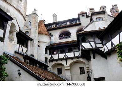 BRAN, TRANSYLVANIA, ROMANIA - circle July 2018:  famous Dracula's Castle in Bran