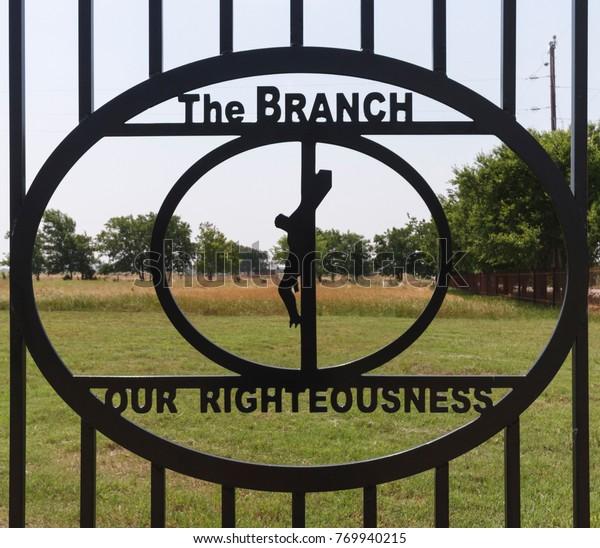 Branch Davidian entrance gate, Waco, Texas, Summer 2013