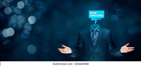 Brand ambassador professional. Corporate marketing specialist concept.