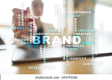 Brand concept. Words cloud.