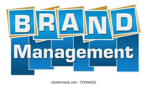 Brand Management Blue Squares Stripes