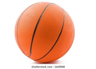Brand new basketball ready for action