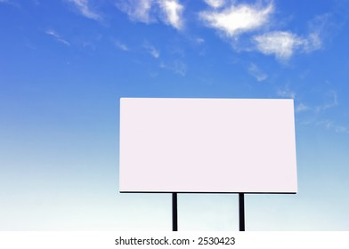 Brand new billboard and a wispy blue sky - larger sign than a similar image in my portfolio