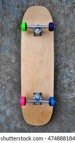 a brand new blank skateboard complete