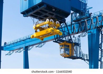 brand new container crane in the Rotterdam port