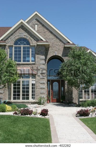 a brand new, contemporary american home