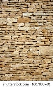 Brand new cotswold drystone wall