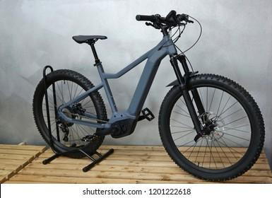 Brand new electric mountain bike, or e bike, assembled .