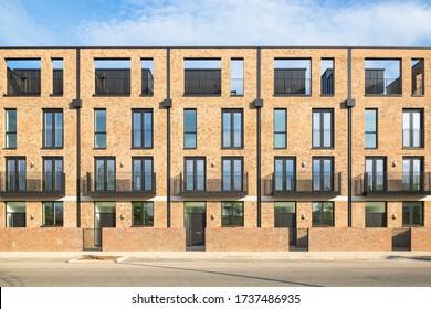 Brand new empty apartments around Stratford, east London