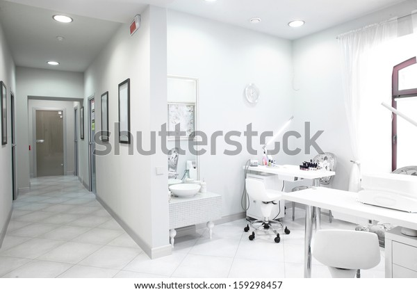 brand new and empty european luxury medical clinic