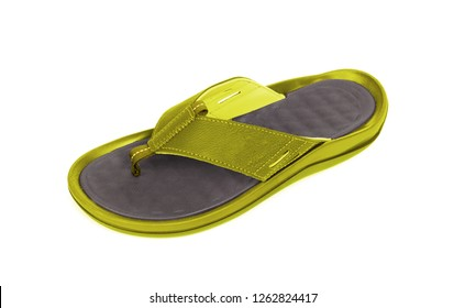 Brand new flipflop, isolated on a white background