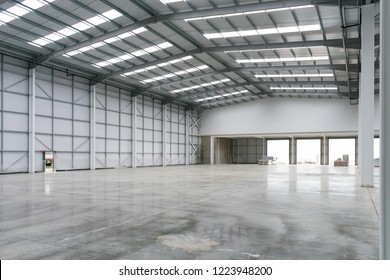 A brand new industrial shed
