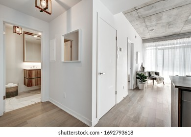 Brand new luxury Canadian style furnished and staged apartment in condominium with lobby, hall, reception room and gym