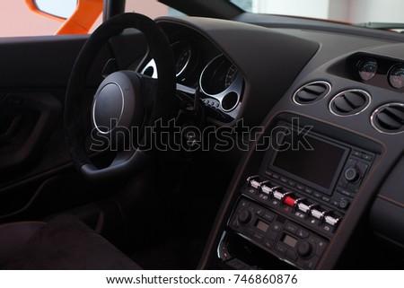 Brand New Luxury Car Interior Expensive Stock Photo Edit Now