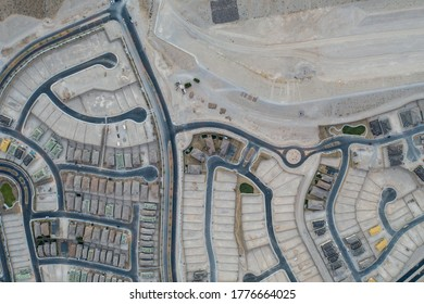 A brand new planned community is being constructed near Las Vegas, Nevada. This area is growing in population and housing continues to expand.