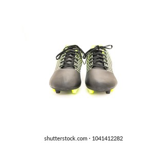 Brand new soccer shoes isolated on white