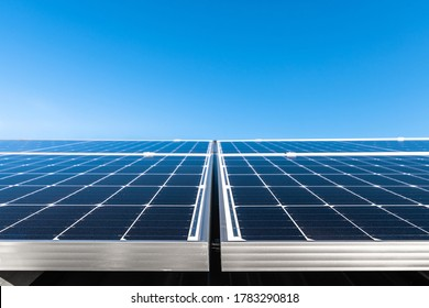 Brand new solar panels just installed on house roof in South Australia