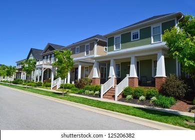 Brand New Suburban American Neighborhood