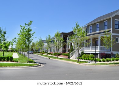 Brand New Suburban Neighborhood Development