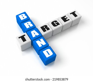 Brand Target crosswords. Part of a business concepts series.