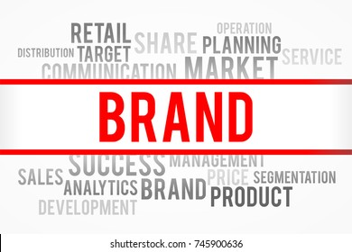 Brand word with business concept