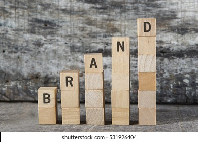 BRAND word on building block