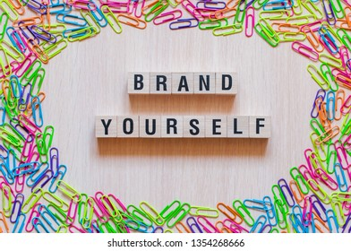 Brand yourself words concept