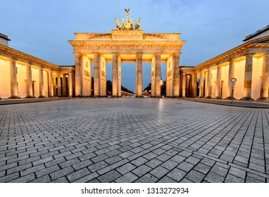 Brandenburg Gate was built on the site of a former city gate that marked the start of the road from Berlin to the town of Brandenburg an der Havel.