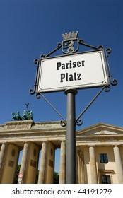 Brandenburg Gate Pariser Platz Berlin Germany