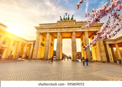 Brandenburg gate at spring, Berlin