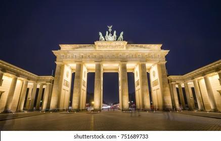 Brandenburger Gate at night, Berlin