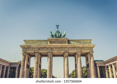 The Brandenburger Tor (Brandenburg Gate) in Berlin Germany