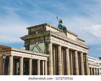 Brandenburger Tor Brandenburg Gate famous landmark in Berlin Germany