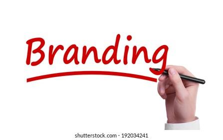 Branding isolated over white