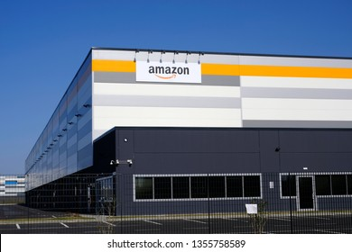 Brandizzo, Italy - March 31, 2019: Amazon establishment in Piedmont, Italy