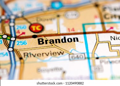 Map Of Brandon Florida.Brandon Texas Usa On Map Stock Photo Edit Now 794436166 Shutterstock