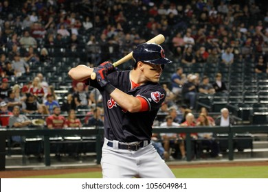 Brandon Guyer right fielder for the Cleveland Indians at Chase Field in Phoenix Arizona USA March 26,2018.