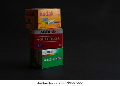 Brands of Negative Film in Packaged Rolls