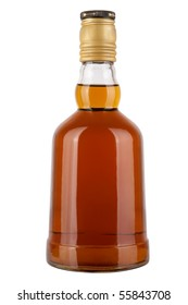 Brandy bottle isolated on a white background