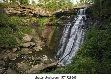 Brandywine Falls, located in Cuyahoga Valley National Park, Ohio.
