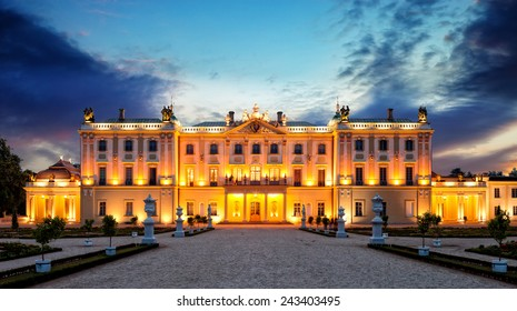 The Branicki Palace and park in Bialystok Bialystok, Poland.