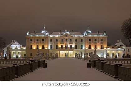 Branicki Palace in winter - Poland