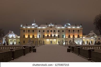 Branicki Palace in winter - Poland