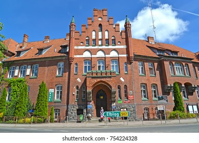 BRANIEWO, POLAND - JUNE 07, 2016: Facade of the building of municipal authority