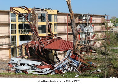 BRANSON, MISSOURI, FEBRUARY 29: Despite extensive damage in the area there were no fatalities caused by an EF-2 tornado spawned by a late winter thunderstorm in Branson, Mo, February, 29th, 2012.